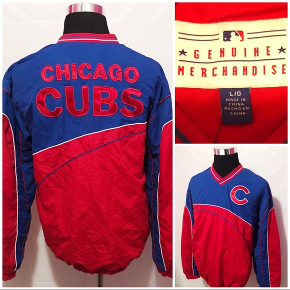 best service b5f4c 16ad8 MLB Genuine Merchandise Chicago Cubs Pullover L NWT